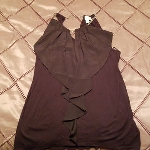 Michael Kors Black Sleevless shirt